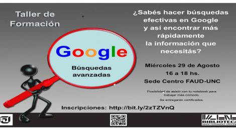 Taller de búsquedas en Google. Suspendido hasta próximo aviso